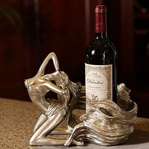 FEIFEI Casiers à vin résine fille créatif mode cave à vin décoration salon restaurant accueil pratique casier à vin