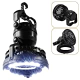Best Camping Fans - E-TRENDS Portable LED Camping Lantern with Ceiling Fan Review