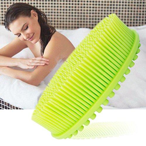 Scheda dettagliata Vasca doccia massaggio con spazzola in silicone Baby massaggio bagno pennello in silicone per viso e corpo silicone spazzola da bagno