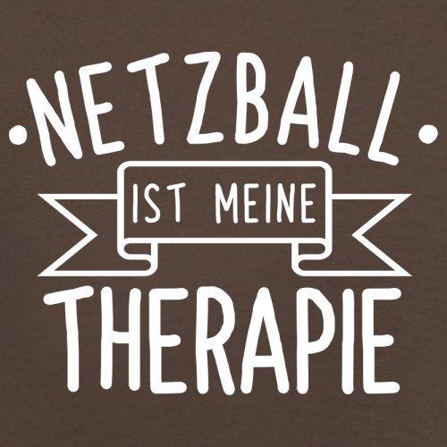 Netzball ist meine Therapie - Herren T-Shirt - 13 Farben Schokobraun