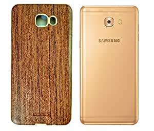 Carrywrap Top Quality brown rubber silicone back cover, back case, plain cover case back cover for Samsung Galaxy C9 Pro