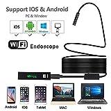 Hangang wireless, Periscopio WiFi telecamera endoscopica con IP68impermeabile 2.0Megapixel per Samsung iPhone Mac di Windows iOS Android USB endoscopio (5M)