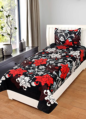 BSB Trendz 3D 160TC Blue Colour Dolphin Single Bedsheet with 1 Pillow...