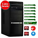 Rhino Rapid a6332 mit Windows 10 I AMD FX-6300 6x 3.5 GHz I 8 GB DDR3 I AMD Radeon HD 3000 I ASUS I 120 GB SSD + 1000 GB SATA I DVD-Brenner I Xilence Cooler & Netzteil I Gigabit-LAN | 6-Kanal-Sound I Bullguard Internet Security Lizenz 1 Jahr / 5 PCs I 36 Monate Garantie