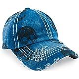Gorra de béisbol con visera vaquera, estilo hip-hop multicolor azul Regular