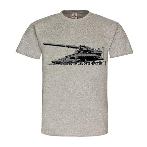 Eisenbahngeschütz Dora Gerät 80cm Kaliber Geschütz Kanone - T Shirt #18498, Größe:XXL, Farbe:Grau