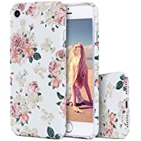 iPhone 7 Case, Imikoko Floral Designer Hard Shell Case [Plastic Back Cover, Slim Fit] Flowers Printed Thin Cute Bohemian Vintage Retro Style for iPhone 8 Girly Girls Women iPhone 7 4.7""