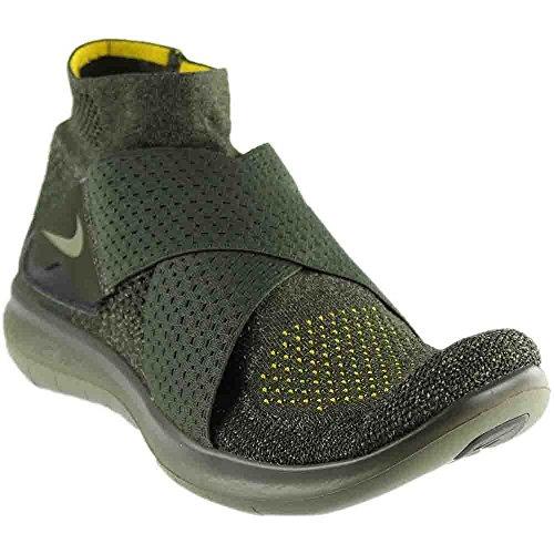 wholesale dealer 3e5f1 3cb69 NIKE Free RN Movimiento FK 2017 Flyknit Zapatillas de Running para Hombre,  Verde (Sequoia