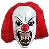 Snarling Terror Clown Latex Halloween Adult Mask (máscara/ careta)
