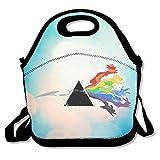 Bakeiy Pink Floyd Eevee Evolution Lunchtasche aus Neopren für Kinder und Erwachsene für Reisen und Picknick, Schule