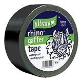 Rhino 50mm 50mtr Multipurpose Gaffer Tape Black by Ultratape