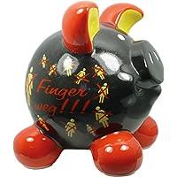 Preisvergleich für Swiggie Sparschwein Finger Weg Schwarz Spardose Glücksschwein 13 cm 15,5 cm: Größe: 15,5 cm