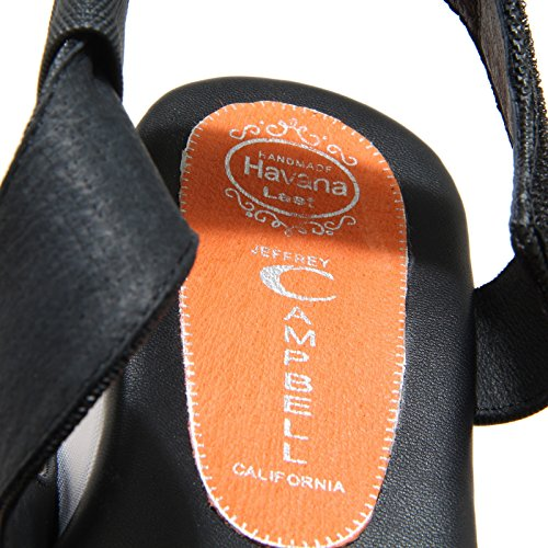 8838N sandalo zeppa JEFFREY CAMPBELL SAUGREN nero sandali donna sandals women Nero