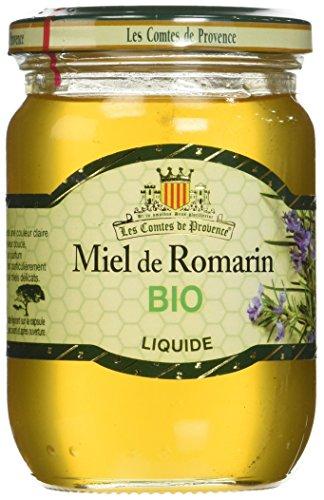 Les Comtes de Provence Miel de Romarin Liquide Bio 330 g - Lot de 3