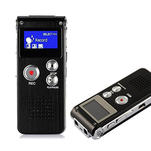 HccToo 8GB Multifunctional Digital Voice Recorder Rechargeable Dictaphone Stereo Voice Recorder with MP3 Player Perfect for Recording Interviews, Conversation and Meetings (Black) Test