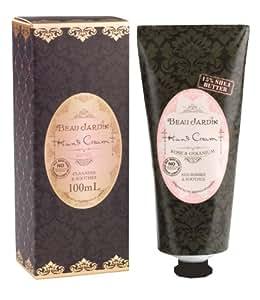 Beau Jardin Crème pour les mains à la rose et au géranium 15 % de beurre de karité 100 ml