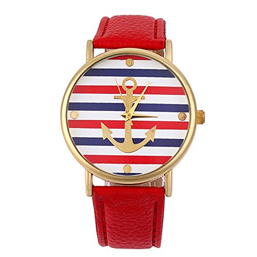sanwood-womens-striped-anchor-faux-leather-wrist-watch-red