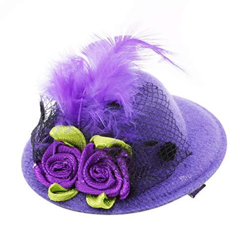VWH Mini Hut Stil Kopf Haarspange Party Decor Zubehör Halloween Geschenk(Lila)