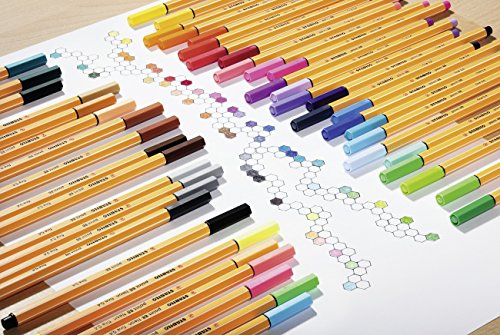 STABILO-Point-88-Fineliner-Pen-Assorted-Colours-Pack-of-25