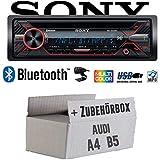 Audi A4 B5 - Autoradio Radio Sony MEX-N5200BT - Bluetooth CD MP3 USB Auto - Einbauzubehör - Einbauset