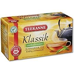 Teekanne Klassik entcoffeiniert Schwarztee 20 Beutel, 4er Pack (4 x 35 g Packung)