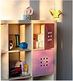 Stilvolle Regaltür für Babyregale, Fachgröße ca. 33,6 x 33,6 cm babyrosa
