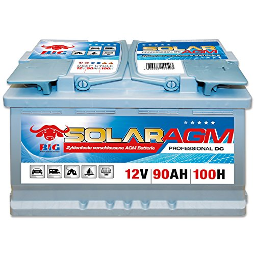 Preisvergleich Produktbild BIG Solar DC AGM 12 V / 90 Ah (100h) Antrieb Beleuchtung Batterie Versorgungsbatterie