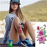 5Pc- Tatuaggio Tatuaggi Adesivi Romantici Fiori Rosa Rosa Tatuaggio Braccio Spalla Tatuaggio Impermeabile Donna-In Tatuaggi Da 17
