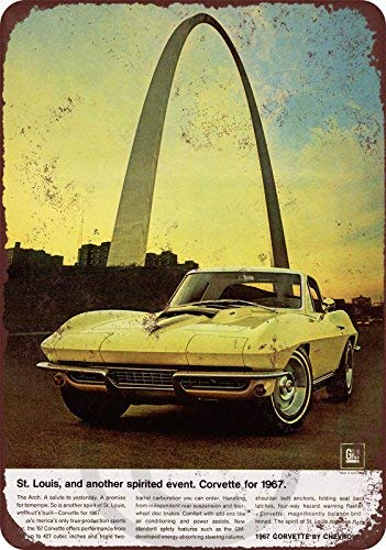 cwb2jcwb2jcwb2j 1967 Chevrolet Corvette St. Louis Reproduction Metal Sign 8 x 12 - Corvette St. Louis