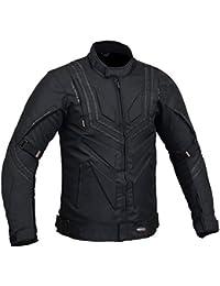 Inserto Hombre Motocicleta Protección Chaqueta Impermeable - Negro, Grande