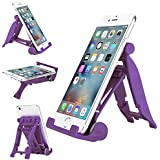 Phone Stand Holder, Engive Adjustable Universal Desktop Stand Holder for iPhone 6S / 6S Plus / 6 / 6 Plus / 5S / 5, Samsung, iPad Mini, iPad Air and other Mobile Phones and Tablets (Purple)