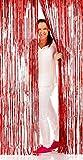 Tenda colorata con strisce rosso in Tinsel - adatto per feste e discoteche