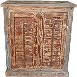 Guru-Shop Antik-Beistellschrank, Kommode, Nachttischschrank, Flurschrank JH8-575, 78x75x39 cm, Kleine Schränke