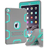 iPad Pro 9.7 inch Case, iPad Pro 9.7 Heavy Duty Case,TOPSKY [Kickstand Feature],Shock-Absorption / High Impact Resistant Armor Defender Case For iPad Pro 9.7 inch 2016 Release,with Stylus, Grey/Green