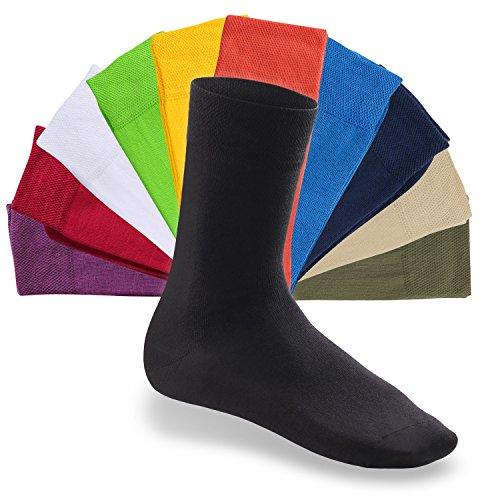 Footstar - EVERYDAY!-Socken - Damen Herren Frauen Männer Unisex-Socken schwarz grau weiss bunt - Alltagssocken für Jedermann