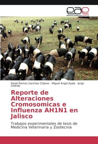 Reporte de Alteraciones Cromosomicas e Influenza AH1N1 en Jalisco: Trabajos experimentales de tesis de Medicina Veterinaria y Zootecnia por David Roman Sanchez Chipres