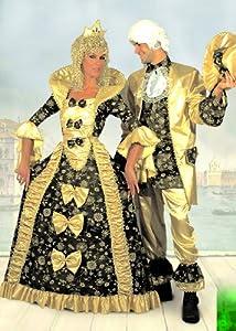 FIORI PAOLO gr5104-Re Sol Disfraz Carnaval Atelier M dorado y negro