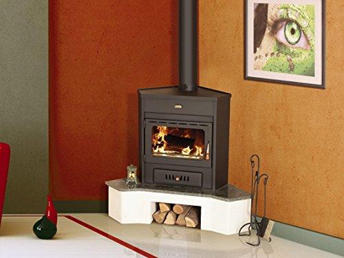 Estufa de leña Corner modelo Log quemador de combustible sólido 12kW Prity Emb