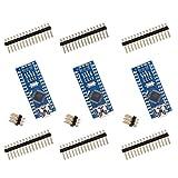 Elegoo 3 pièce Nano V3.0 Kit de Carte à Microcontrôleur CH340 ATmega328P Board pour Arduino (Paquet de 3)