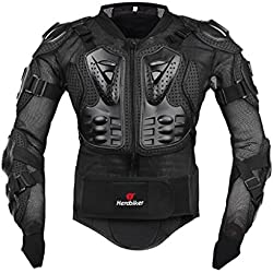 Ropa resistente a los golpes caballero de la armadura para ropa resistente a los golpes del deporte de la motocicleta para el equipo de deportes al aire libre negro M