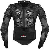 Ropa resistente a los golpes caballero de la armadura para ropa resistente a los golpes del deporte de la motocicleta para el equipo de deportes al aire libre negro XL