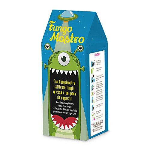 FungoMostro es el kit que permite a los niños cultivar hongos reales, comestibles y super nutritivos en casa. Dale a tu hijo su hongo. Si lo cuidas todos los días, dale un trago y hazle compañía, en el plazo de 2 semanas verás una sorprendente sorpre...