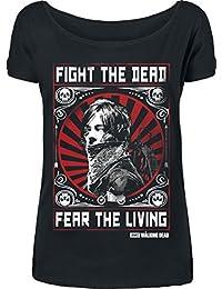 The Walking Dead Daryl Dixon - Fight Camiseta Mujer Negro