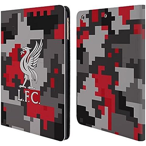 Ufficiale Liverpool Football Club Colori Del Club Camouflage Digitale Cover a portafoglio in pelle per Apple iPad Air