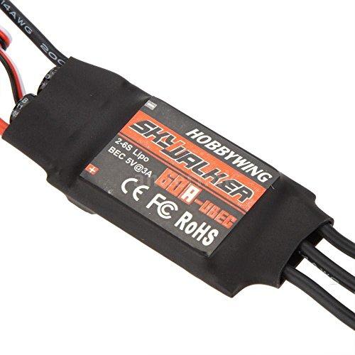 Tradico® 60A ESC Hobbywing Skywalker 60A Brushless ESC Speed Controller with UBEC B7H5