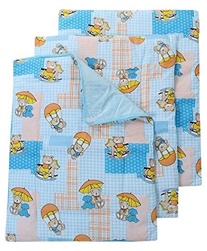 RBC Riya R Baby One Sided Cotton Plastic Sheet Pack of 4Pcs (Assorted)(0-6 Months)