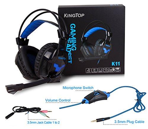 kingtop ps4 gaming headset k11 stereo kopfh rer mit. Black Bedroom Furniture Sets. Home Design Ideas