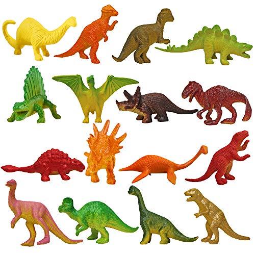 nosaurier Spielzeug Figuren Set - Dino Jurassic Spielfiguren schleich Dinosaurierset, Mini Plastik Dinosaur - ideal als Partyzubehör für Kindergeburtstag ()