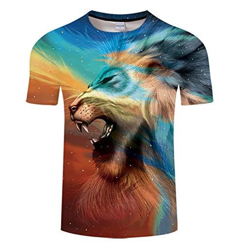 Machen König Der Löwen Kostüm - Ywfzzxs T-Shirt 3D Tops Mode-T-Shirts Unterhemden Kurzarm Unisex Neuheit Kostüm HD Anime Druck König Der Löwen