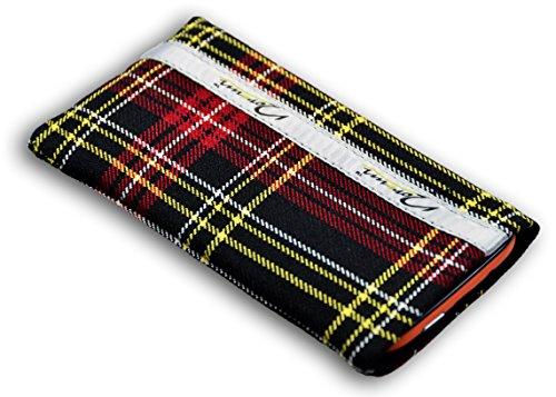 Norrun Handytasche / Handyhülle # Modell Griseldis # ersetzt die Handy-Tasche von Hersteller / Modell Samsung SGH-S500i # maßgeschneidert # mit einseitig eingenähtem Strahlenschutz gegen Elektro-Smog # Mikrofasereinlage # Made in Germany